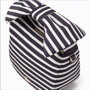 03373bd4dae kate spade Bags - Black White striped KATE Spade bag BOW handle NEW!